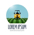 tractor logo design template farm or vector image vector image