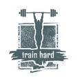 train hard quote vector image vector image