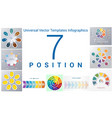 universal templates set infographics 7 positions vector image vector image