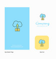 uploading on cloud company logo app icon and vector image