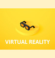 virtual reality isometric icon isolated on color vector image