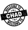 welcome to chad black stamp vector image vector image