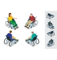 Wheelchair isolated Man in Wheelchair Flat 3d vector image vector image