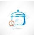 Pan time grunge icon vector image