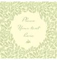 floral invitatiopn card vector image