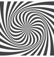 abstract background spiraling strips op art vector image vector image
