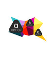 abstract colorful geometric option infographics vector image vector image