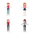Abstract cute Women vector image vector image