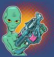 alien green man