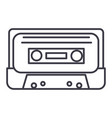 audio tape line icon sign on vector image vector image