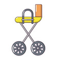 baby carriage yellow icon cartoon style vector image vector image