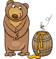 bear with honey cartoon vector image