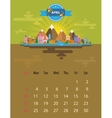 Calendar of april vector image