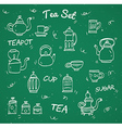 Chalk tea collection vector image vector image