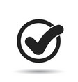 check mark button icon flat approved sign symbol vector image vector image