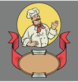 Chef in retro style vector image vector image