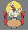 Chef in retro style vector image vector image