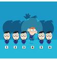Choose awake cute businessman for jobs vector image vector image