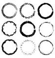 circular frame textures set vector image vector image