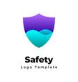 creative protection logo abstract shield vector image