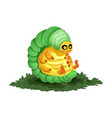 cute cartoon caterpillar colorful dorky and vector image