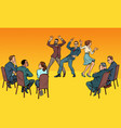 dance competition dancing people and jury vector image