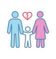 divorce color icon vector image vector image