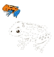 Draw the animal bull educational game vector image vector image