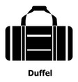 duffel icon simple black style vector image vector image
