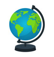earth globe with stand isolated on white vector image