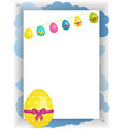 easter portrait panel copy space with bunting and vector image vector image