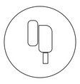 eearphone plug icon black color in round circle vector image