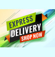 express delivery discount promotional concept vector image