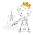 Fairytale prince -rain kids vector image