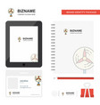 fan business logo tab app diary pvc employee card vector image