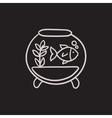 Fish in aquarium sketch icon vector image