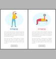 fitness web stretching and pumping men vector image vector image