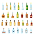 flat icons set alcoholic beverages alcohol vector image
