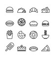 food line icons set isolated on white background vector image vector image