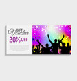 gift voucher template background vector image vector image