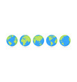 globes set collection on white background vector image vector image