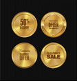 golden metal badges collection vector image vector image