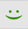 green grass smile 3d smiley grassy icon isolated vector image