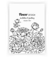greeting card with rose flower and leaf hand vector image vector image
