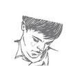 hand drawn handsome young man vector image