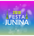 happy brazilian carnival day festa junina vector image