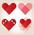 Heart valentine icon set vector image vector image