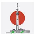 japan travel tokyo sky tree vector image