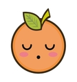 kawaii cartoon orange fruit vector image vector image