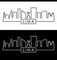 lima city skyline linear style editable file vector image vector image